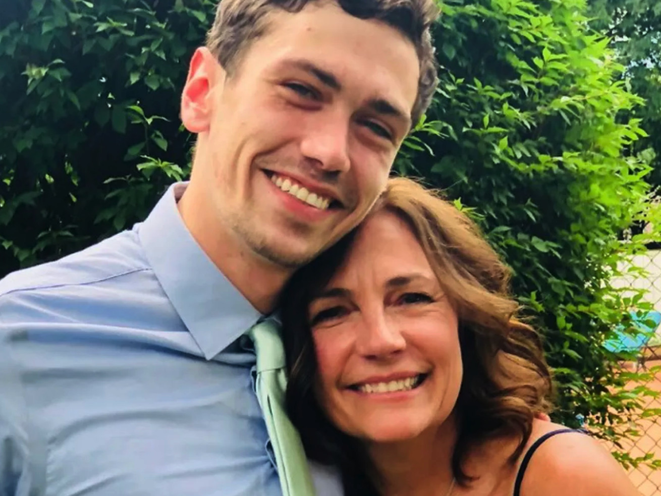 Sylvia Schafer with her son Joshua Bloomfield, who died in 2019 of poisoning from alcohol and a cocktail of drugs including heroin, Fentanyl and methamphetamine.