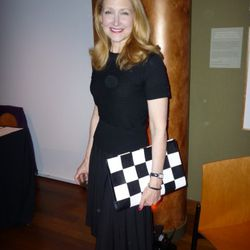 Patricia Clarkson mingling with the crowd at the Rubin Museum