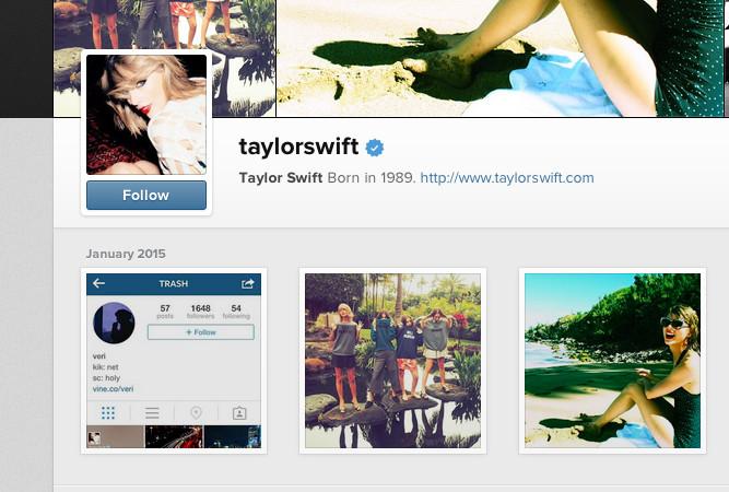 taylor swift hacked instagram