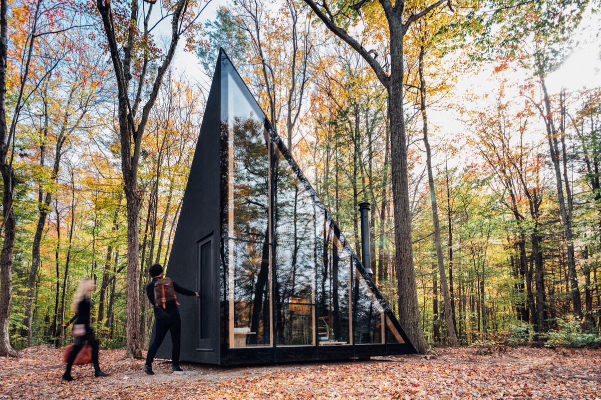 prefab tiny house designed by bjarke ingels inspired by a frames