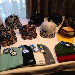 """Cali's own purveyor of <a href=""""http://la.racked.com/archives/2013/08/07/this_soft_beanie_feels_like_you_have_a_cloud_on_your_head.php"""">cloud-like beanies</a>, <b>Neff</b> has come equipped with a range of print-happy hats and eyewear."""