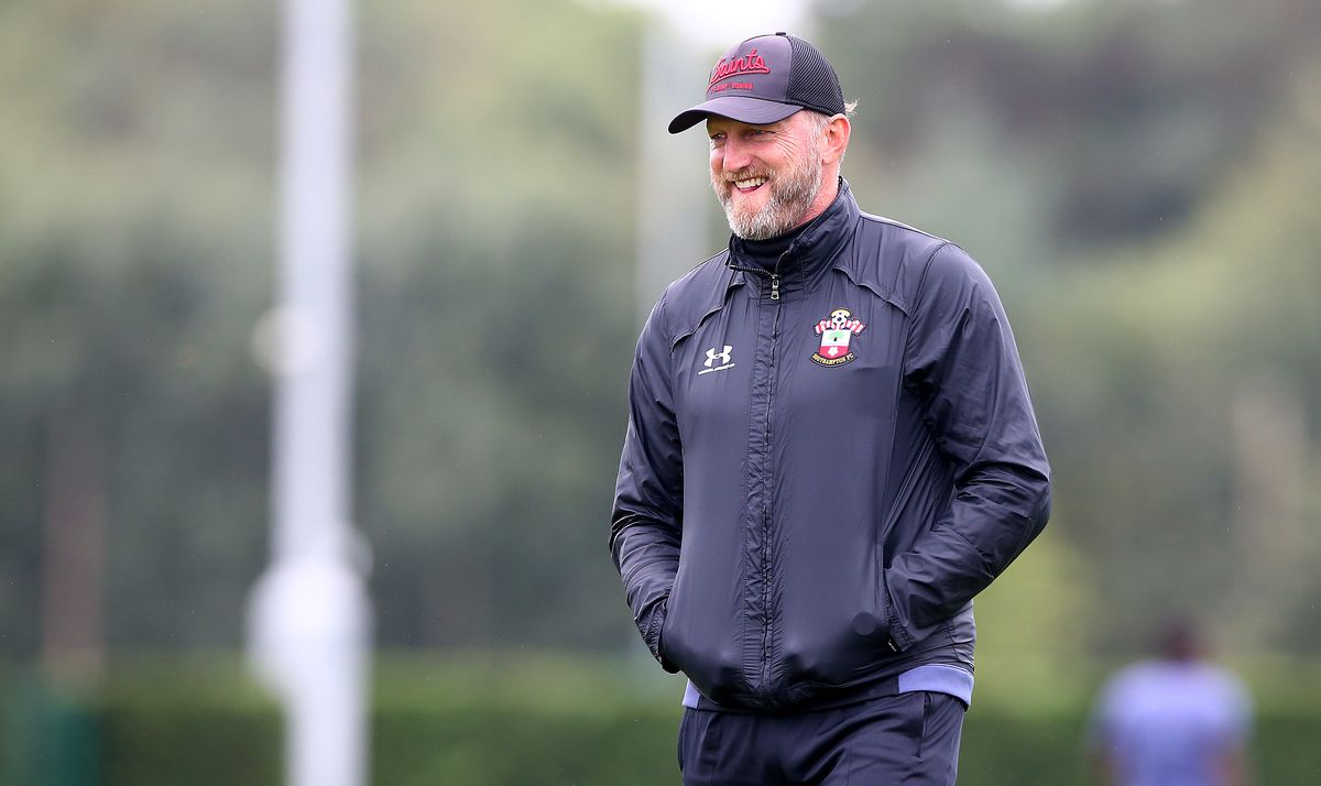 Southampton manager Ralph Hasenhuttl in training