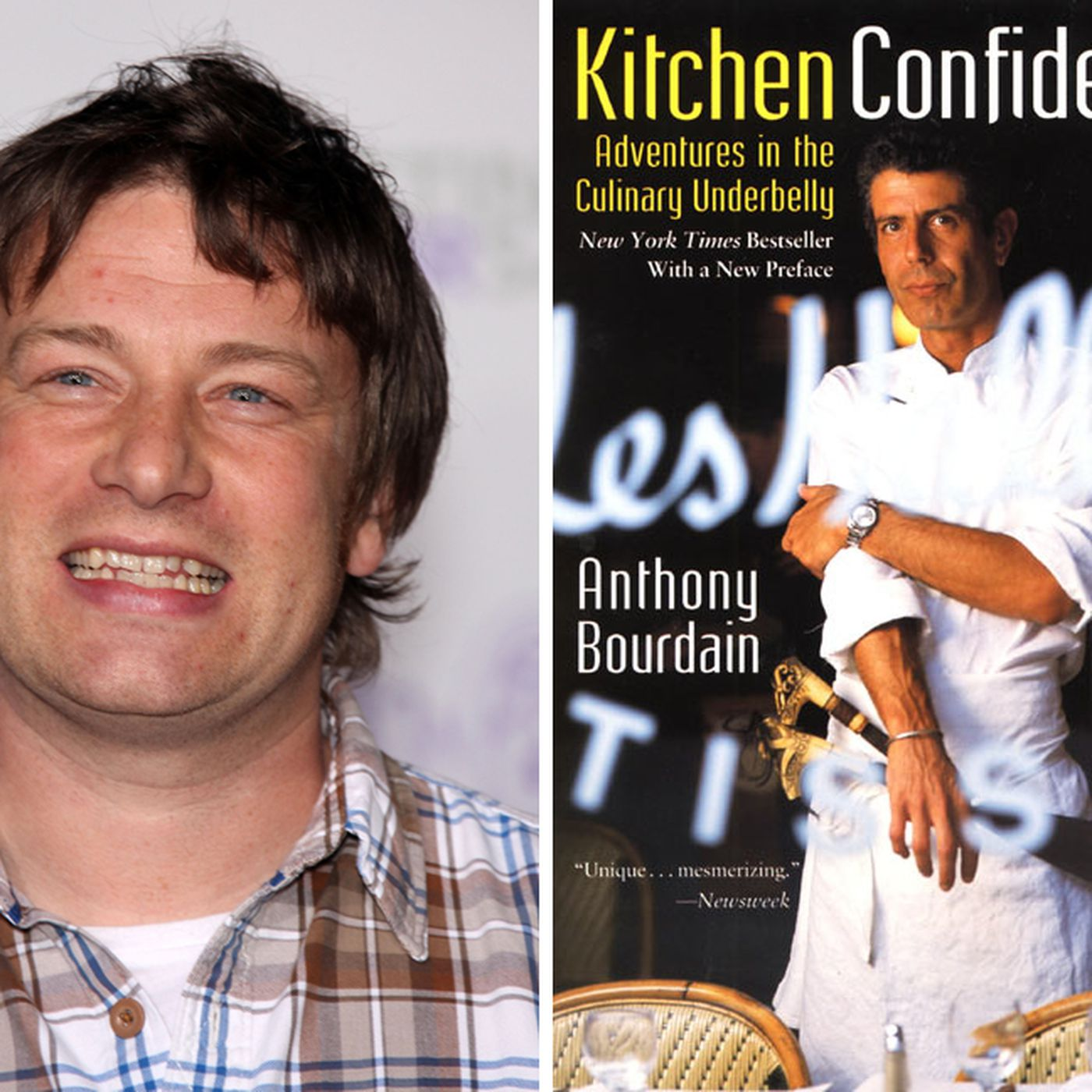 Anthony Bourdain Kitchen Confidential | Jamie Oliver Burned His Copy Of Kitchen Confidential Eater