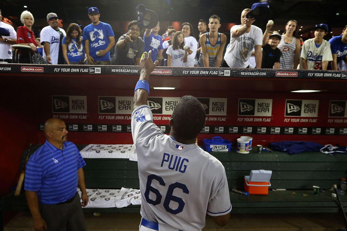 Yasiel Puig ranks 10th in MLB jersey sales despite late call up ... 677b1733d