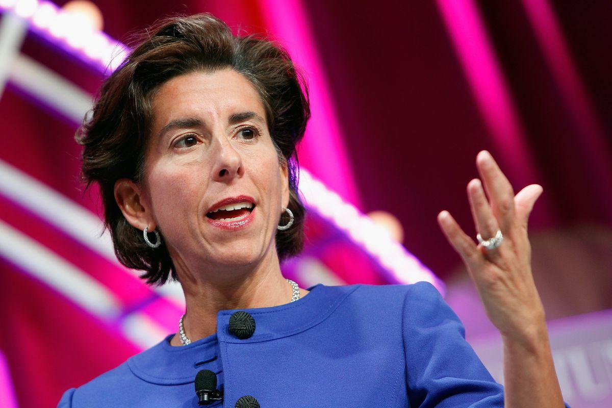 Rhode Island Gov. Gina Raimondo speaks during Fortune's Most Powerful Women Summit in 2015 in Washington, DC.