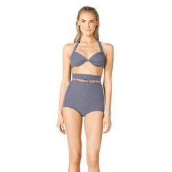 "A high-waisted bikini gives the illusion of curves. Try <b>Michael Kors</b> High-Waist Bra Top Bikini, <a href=""http://www.michaelkors.com/p/Michael-Kors-Michael-Kors-High-Waist-Bra-Top-Bikini-SWIM/prod25420022_cat21701_cat102_/?index=11&cmCat=cat000000ca"