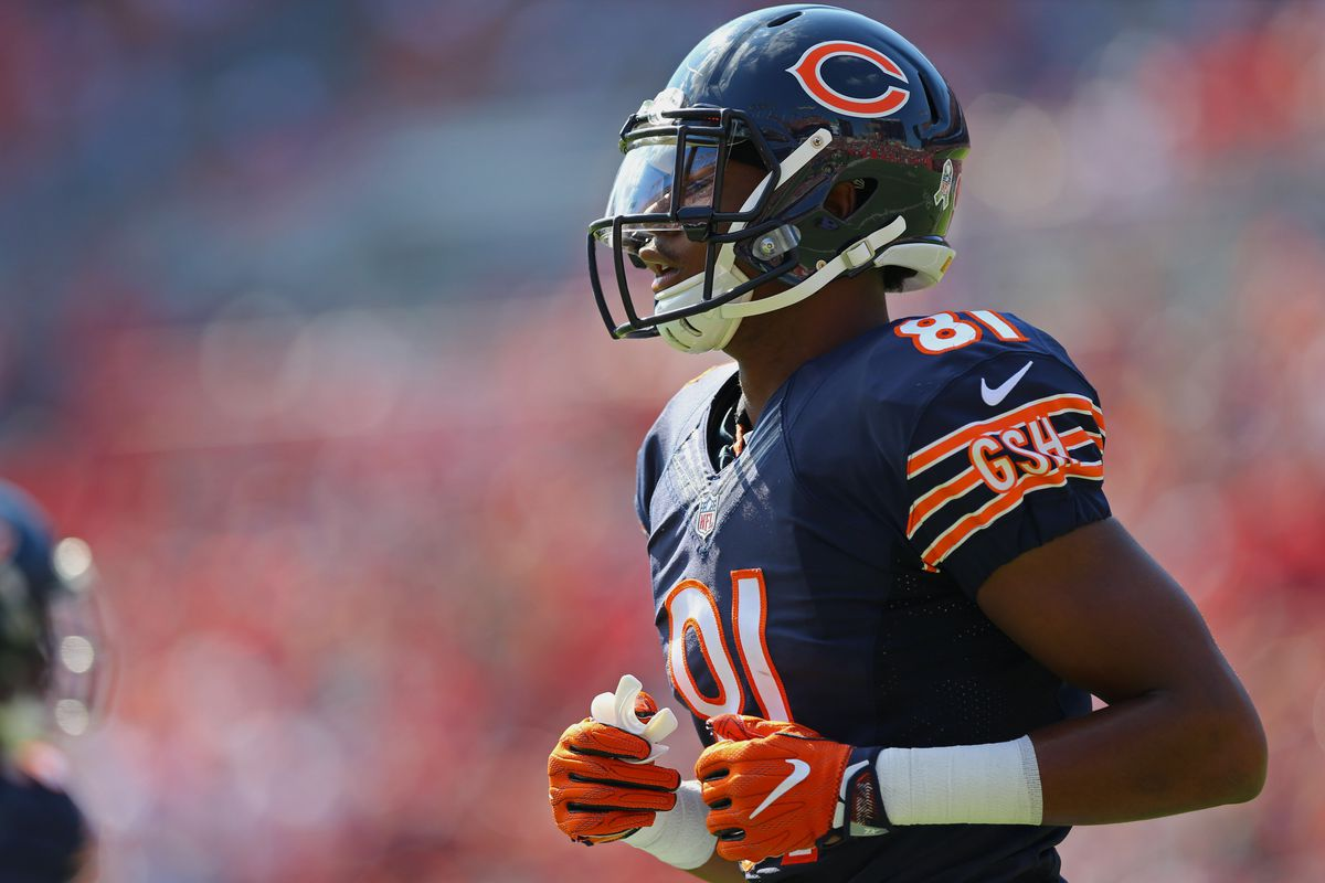 TAMPA, FL - Chicago Bears wide receiver Cameron Meredith (81) against the Tampa Bay Buccaneers at Raymond James Stadium.