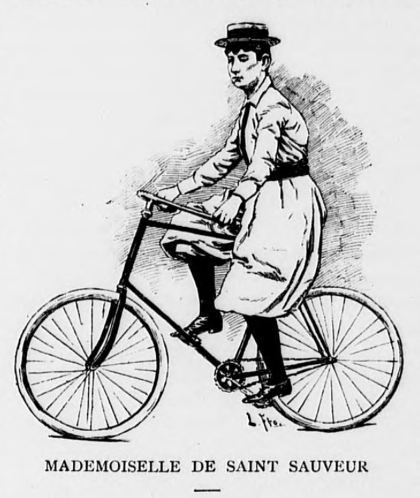 Mlle de Saint-Sauveur, from the Spanish fortnightly journal 'Crónica del Sport', August 1893
