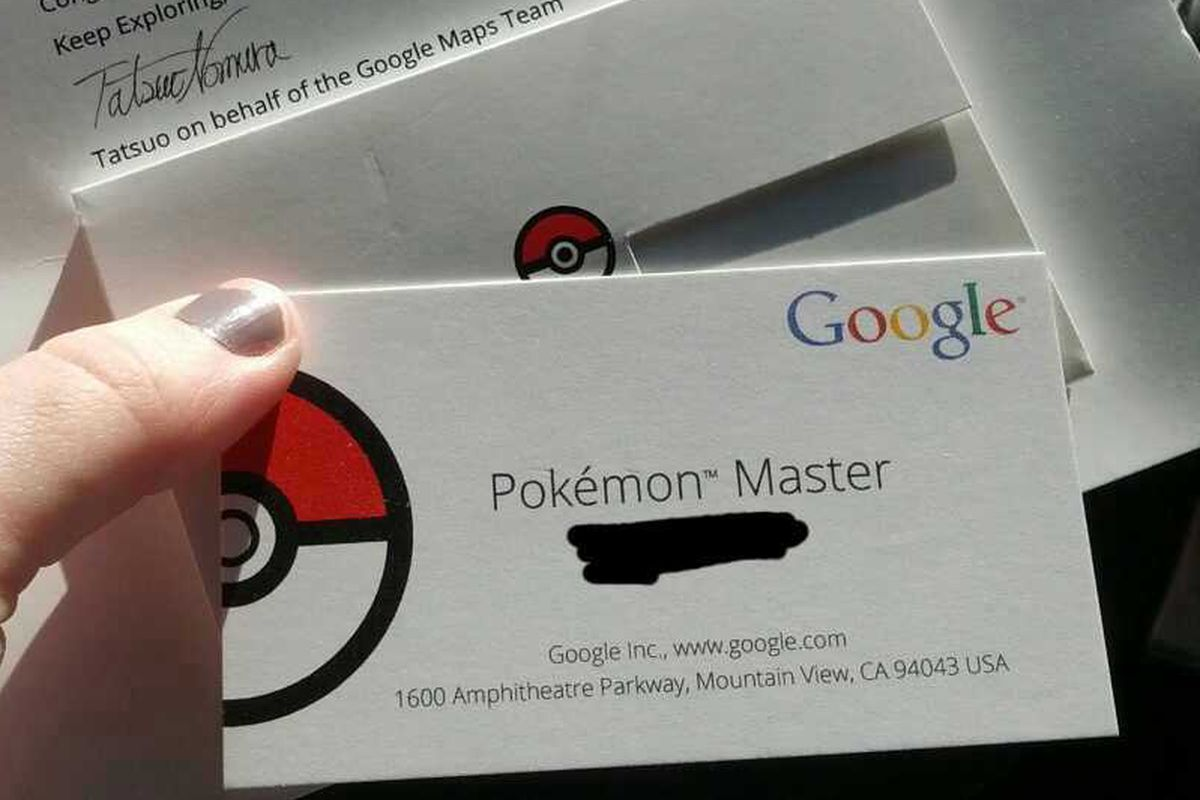 Pokmon master is probably the easiest job to land at google the but its also unpaid the company sent custom business cards to the winners of its april fools day challenge magicingreecefo Images