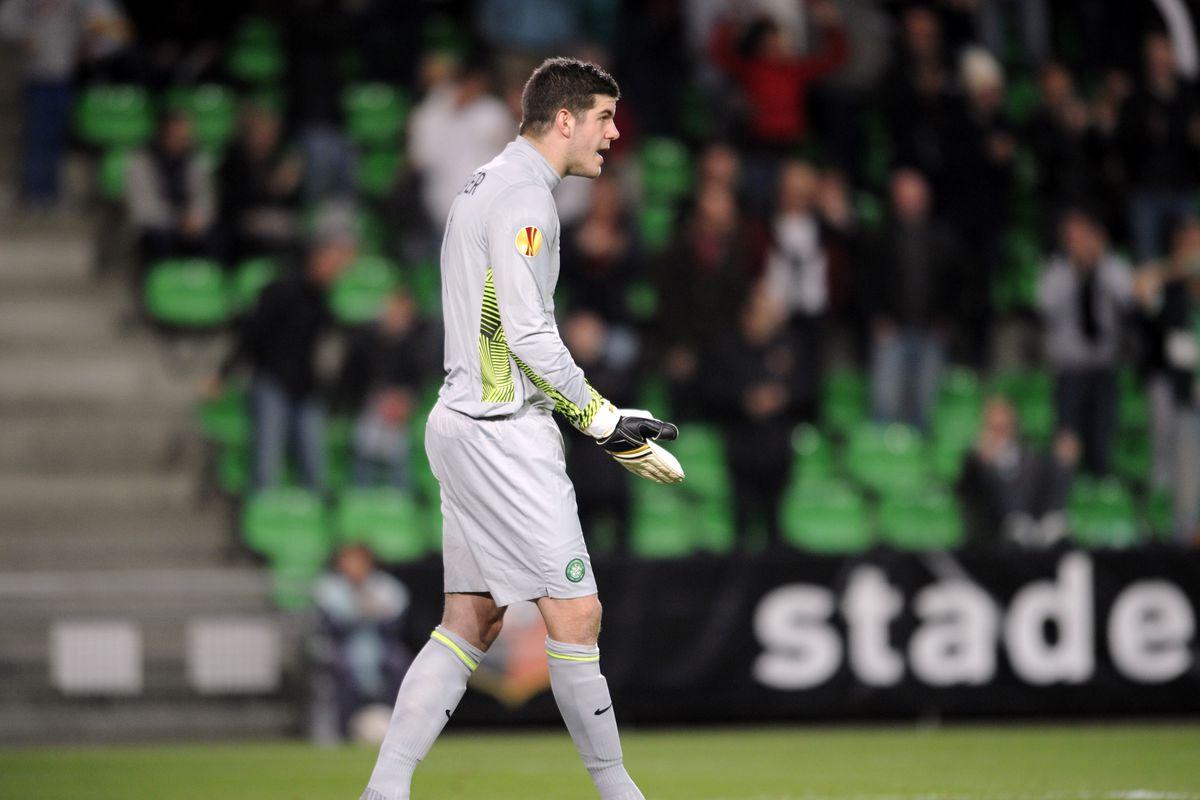 Celtic Glasgow English goalkeeper Fraser
