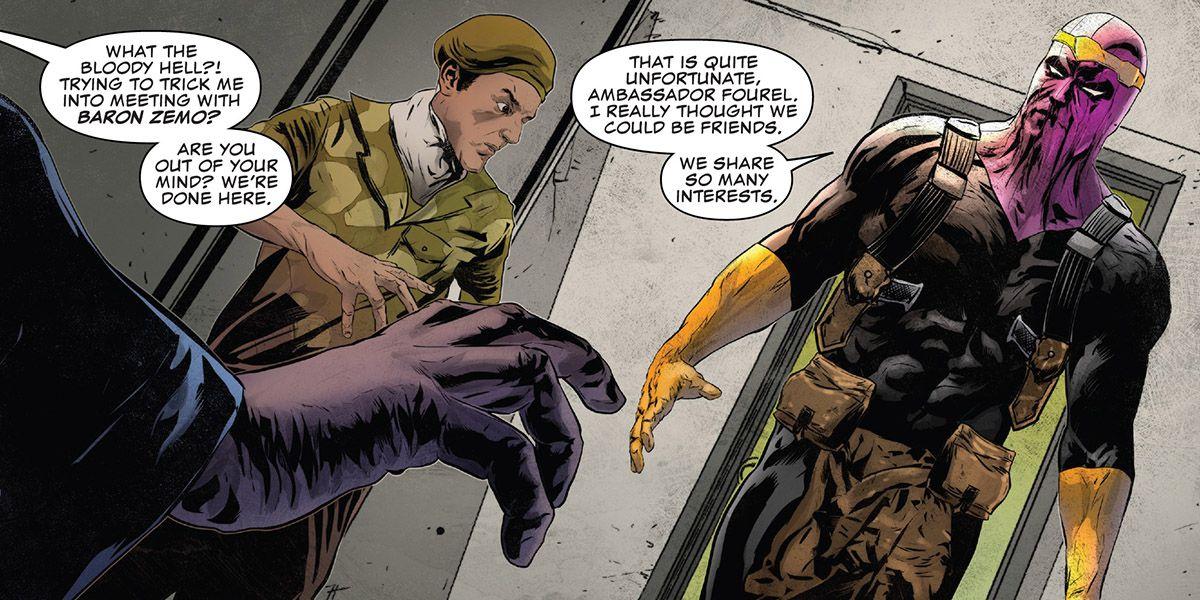 Baron Zemo in The Punisher #1, Marvel Comics (2018).