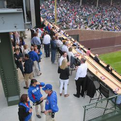 7:40 p.m. The new right-field patio, filled to capacity Thursday night -