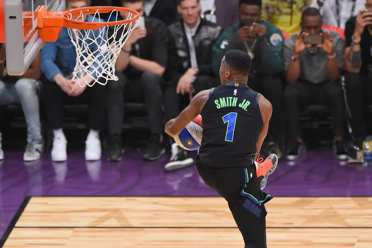 Dennis Smith Jr. s reverse between-the-legs is the latest evolution of the  360 dunk 2a1f0b694d78