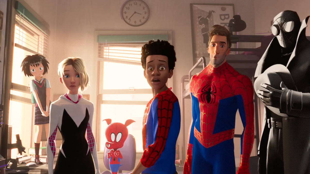 Different versions of Spider-Man that appear in Spider-Man: Into the Spider-Verse.