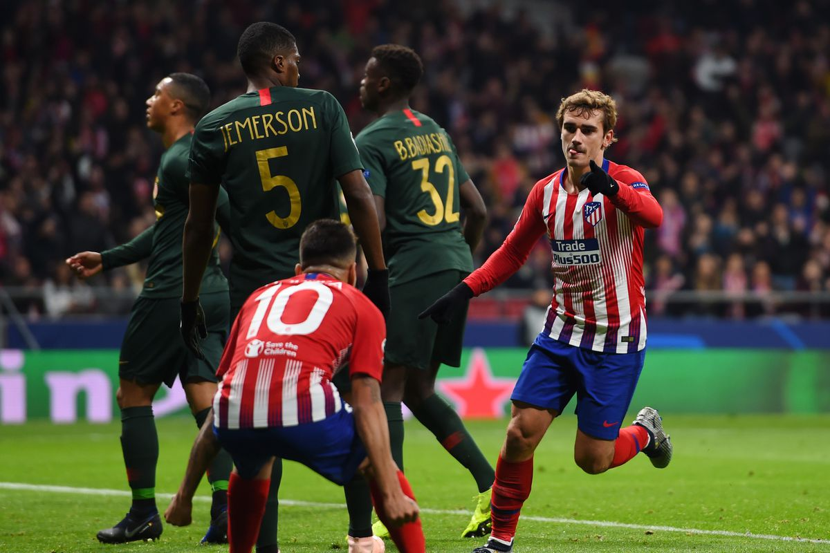 atlético madrid 2 0 monaco simeone gives henry a lesson into the