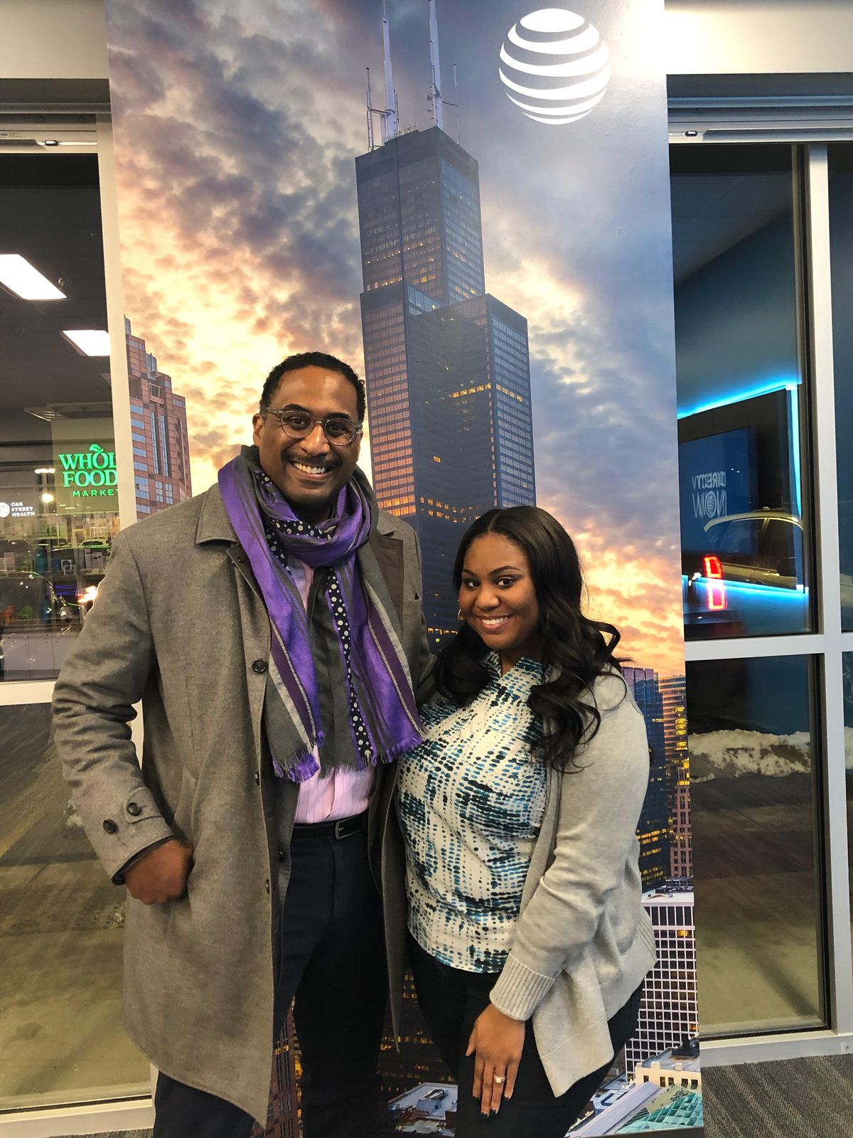 AT&T on Monday opens its first store ever in Englewood, moving into the 10th and final retail space at the 2 1/2-year-old Englewood Square mall at 63rd and Halsted. Leon Walker, managing partner of mall developer/manager DL3 Realty, with Asia Harris,