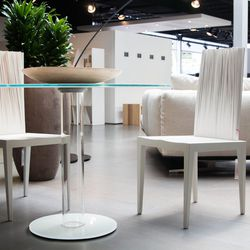 Chairs by Edra Jenette; Bistrot Dining Table by Glas Italia