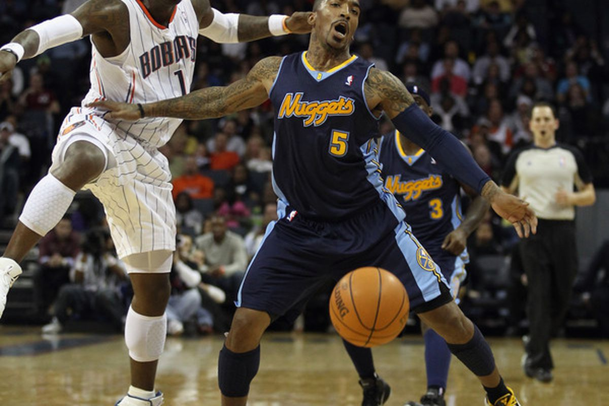 J.R. Smith gives birth to a basketball, with midwifery from Stephen Jackson.