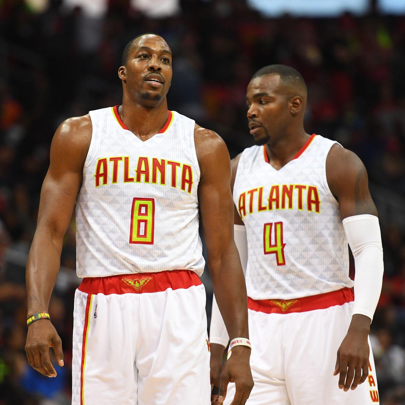 Atlanta Hawks Dwight Howard New Jersey-Red