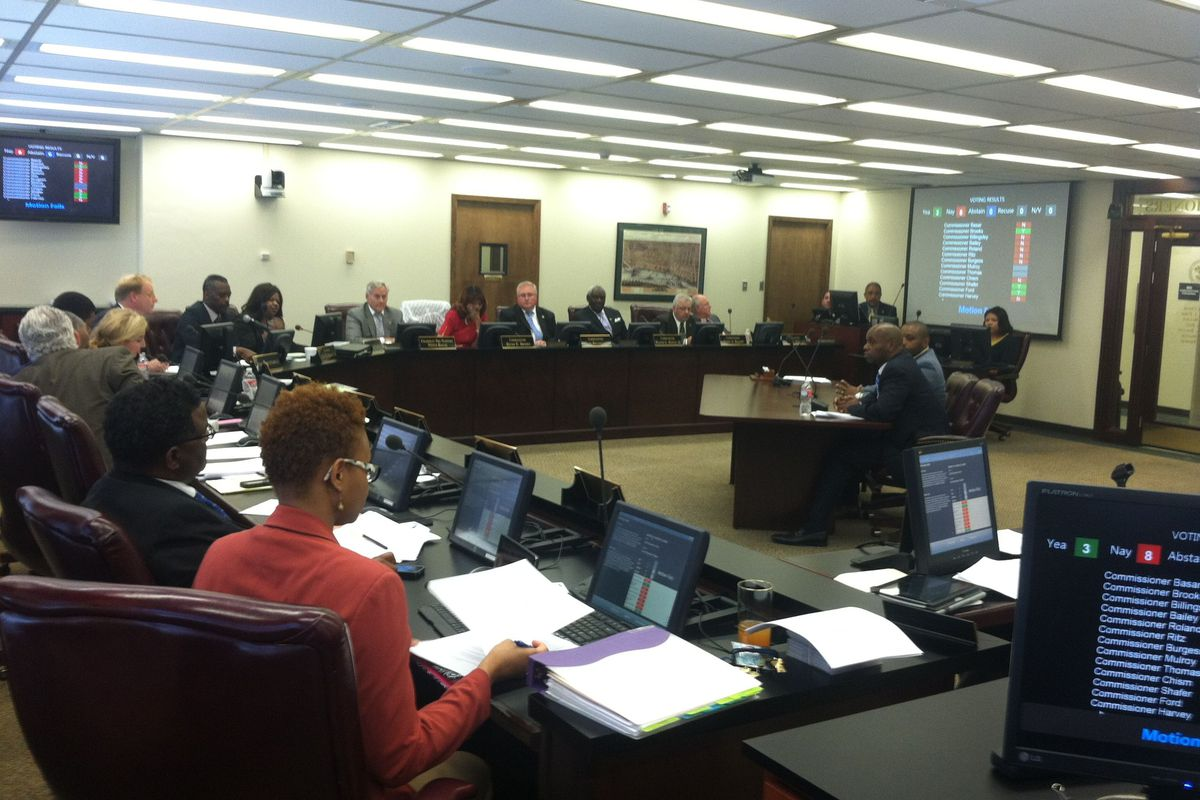 Superintendent Dorsey Hopson told commissioners of the district's financial struggles at a prior meeting.