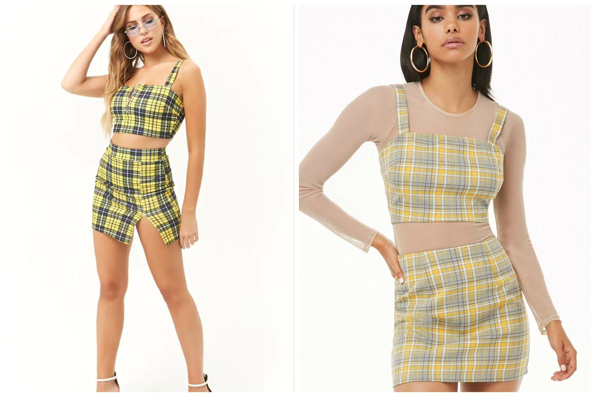 dc810b9985 Cher's Yellow Plaid Outfit From Clueless Is Now at Forever 21, Urban ...