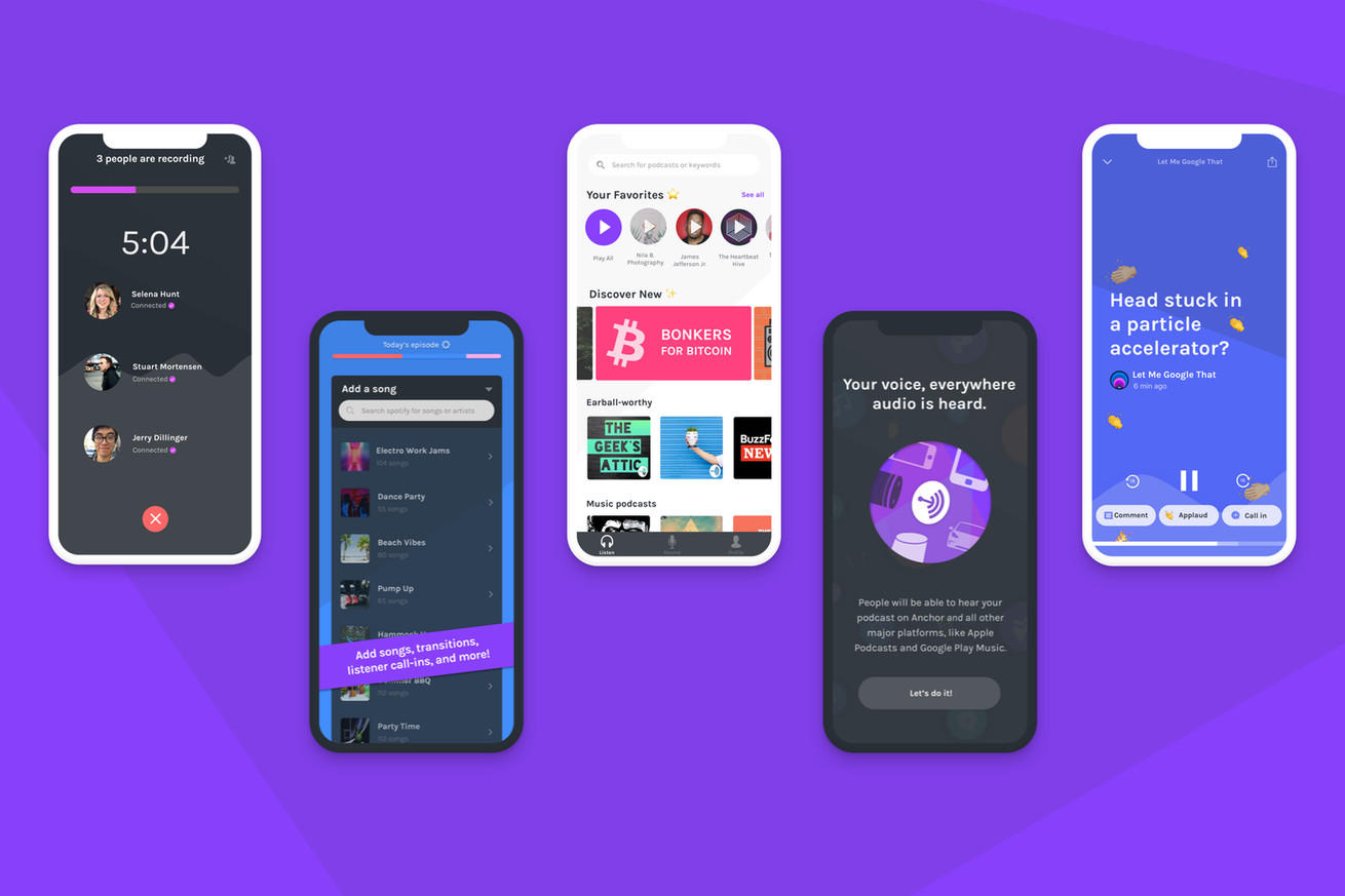anchor s redesigned app focuses on podcasting