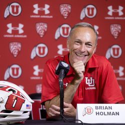 University of Utah club lacrosse head coach Brian Holman speaks at a press conference where an announcement was made that the U. will begin sponsoring men's lacrosse as an NCAA sport starting in 2018-19 at the university in Salt Lake City on Friday, June 16, 2017.