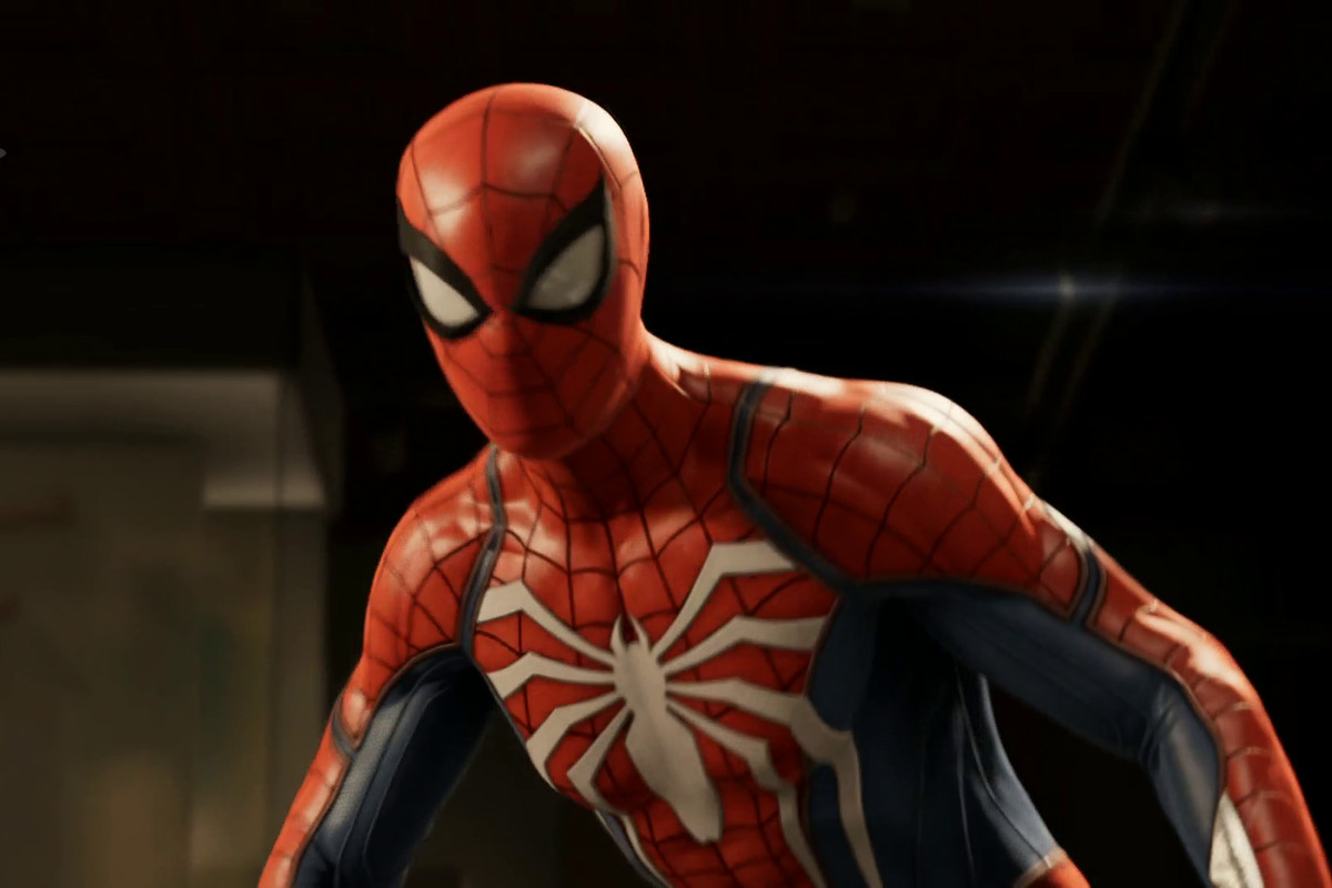 a close-up of Spider-Man in Marvel's Spider-Man
