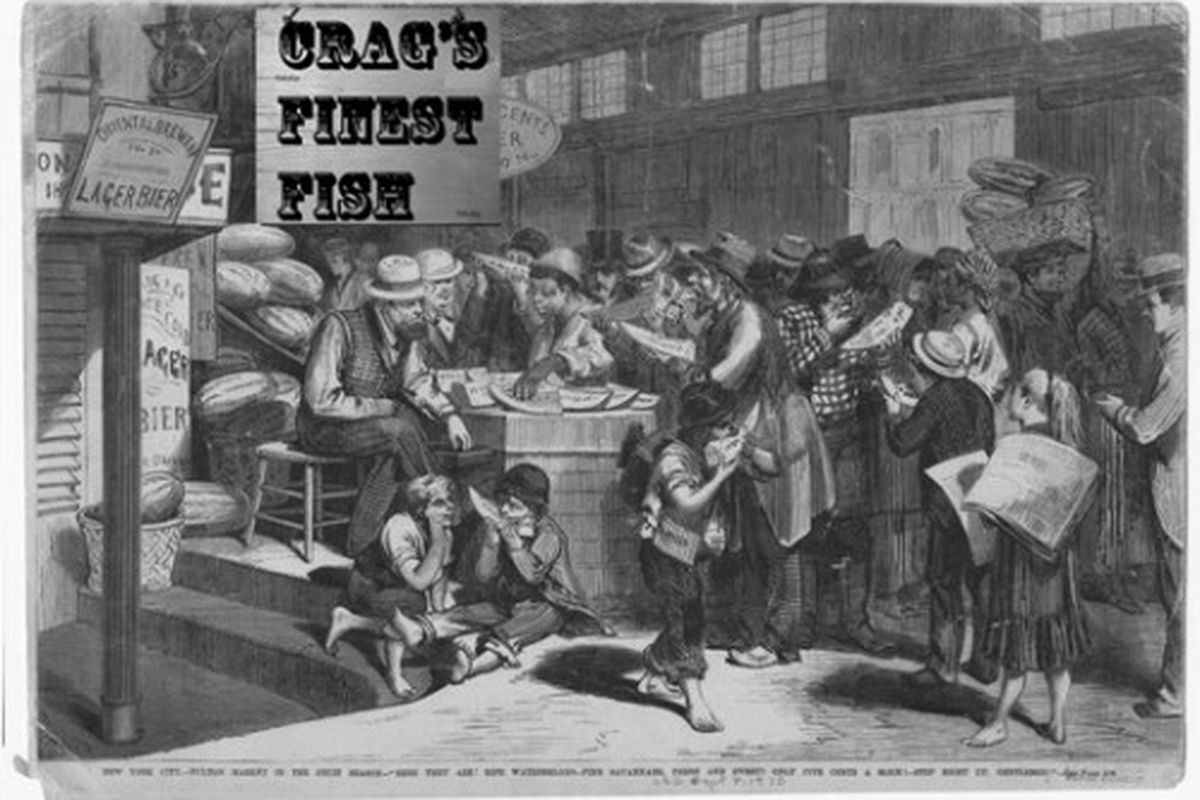 The original Crag's at the Fulton Market.