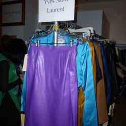 This vintage purple YSL leather skirt is (was?) $150.