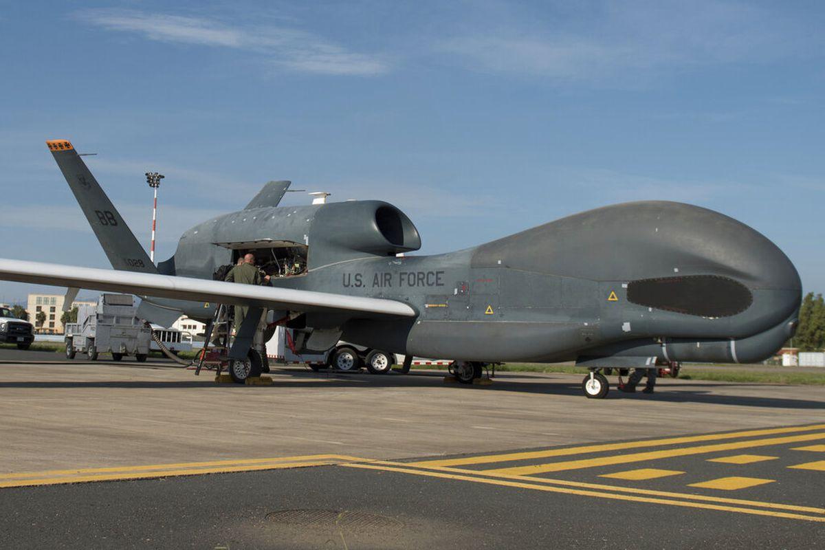 An RQ-4 Global Hawk at Naval Air Station Sigonella, Italy.