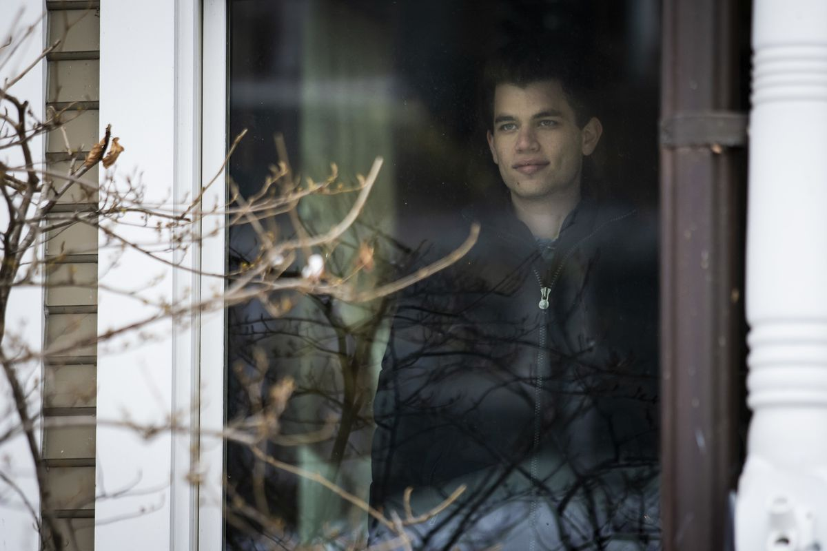 Michael Rubin, 19, at his family's home in Kenwood.