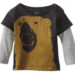 Baby boys infant long-sleeved graphic tee