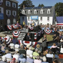 Vice President Joe Biden speaks to a rally at Dartmouth College on Friday, Sept. 21, 2012 in Hanover, N.H.