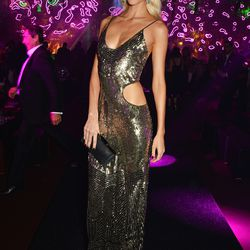 Poppy Delevingne in Roberto Cavalli at the Chopard Wild party.