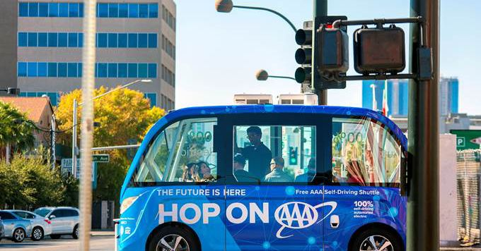 Las Vegas is expanding its self-driving shuttle experiment