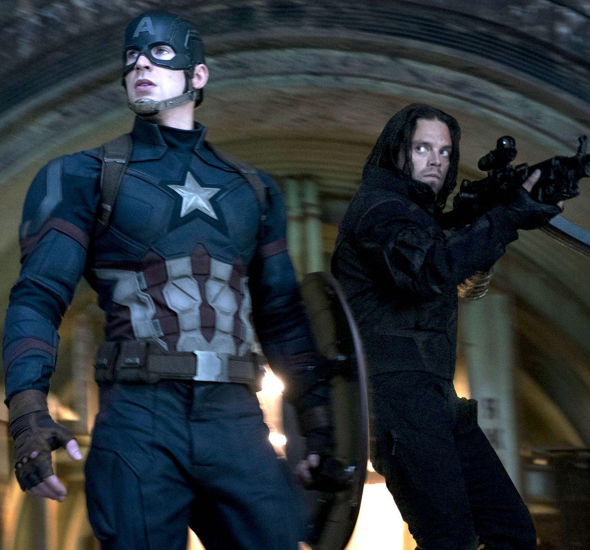 captain america and bucky in captain america civil war