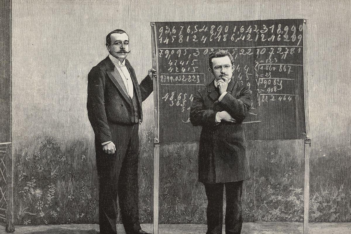 Jacques Inaudi, Italian calculating prodigy, Paris