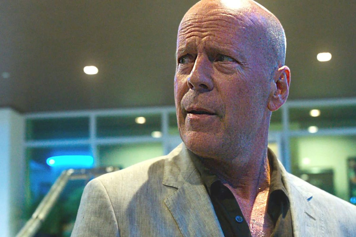 """Bruce Willis is the villain in the straight-to-video thriller """"Precious Cargo."""""""