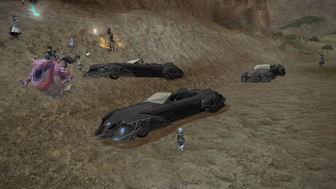 Final Fantasy 15's Regalia car is now in FF14, and everything is