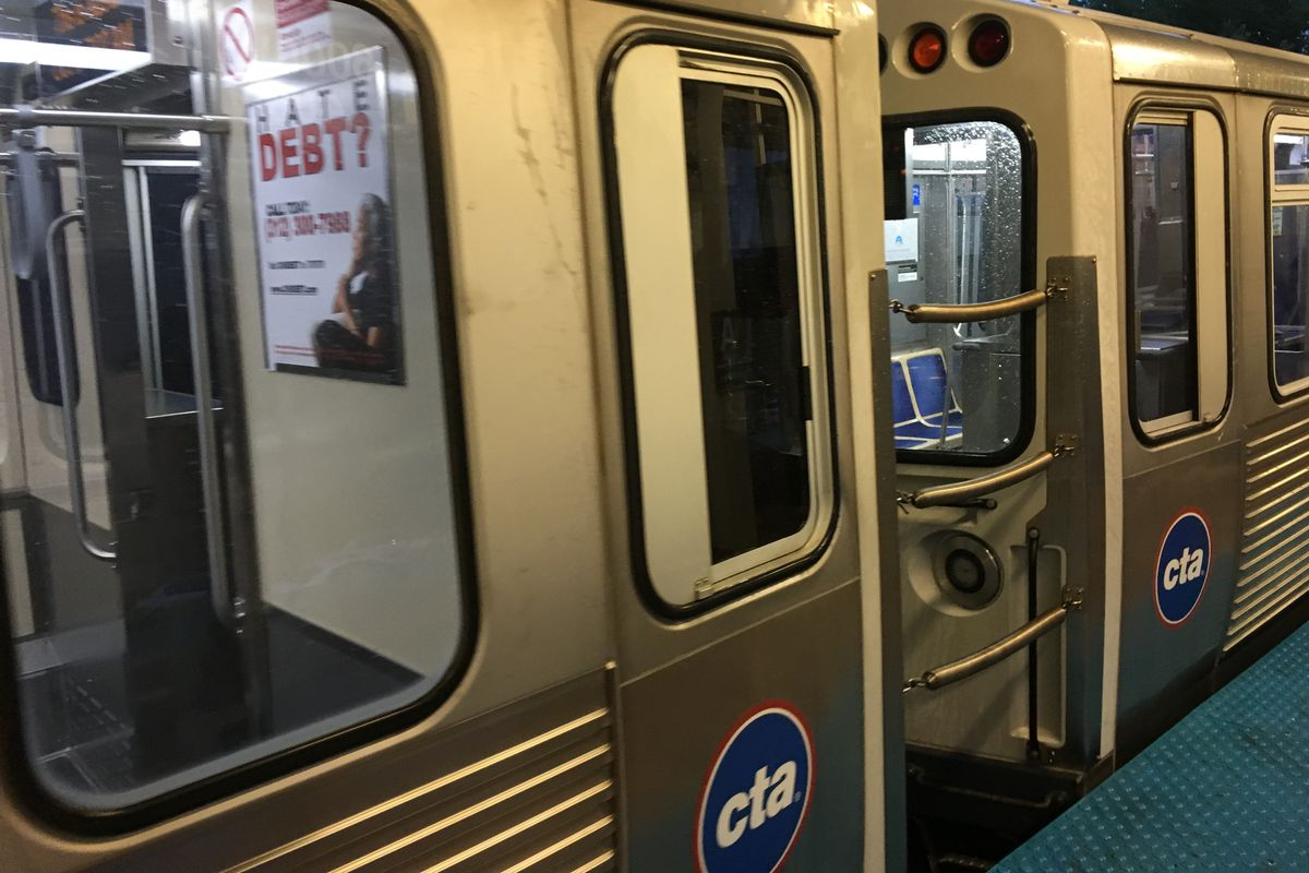 Pink Line service was disrupted Jan. 23, 2021, on the West Side.