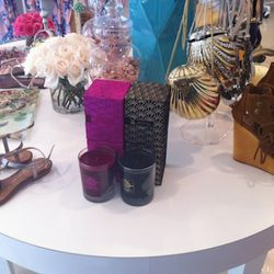 Jeffrey Campbell shoes and Voluspa candles on offer.