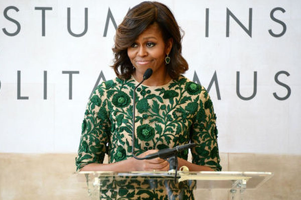 Michelle at the ribbon cutting this morning.