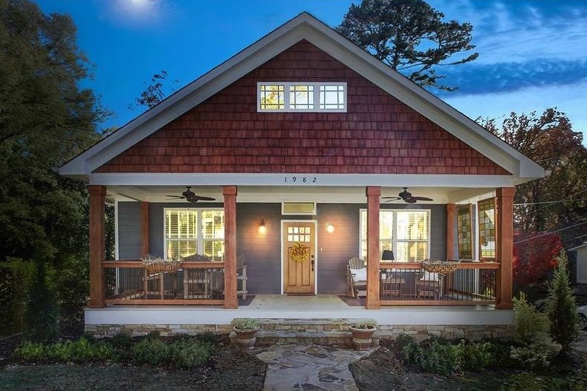 The porch: one of three outdoor lounging options at this College Park Atlanta bungalow.