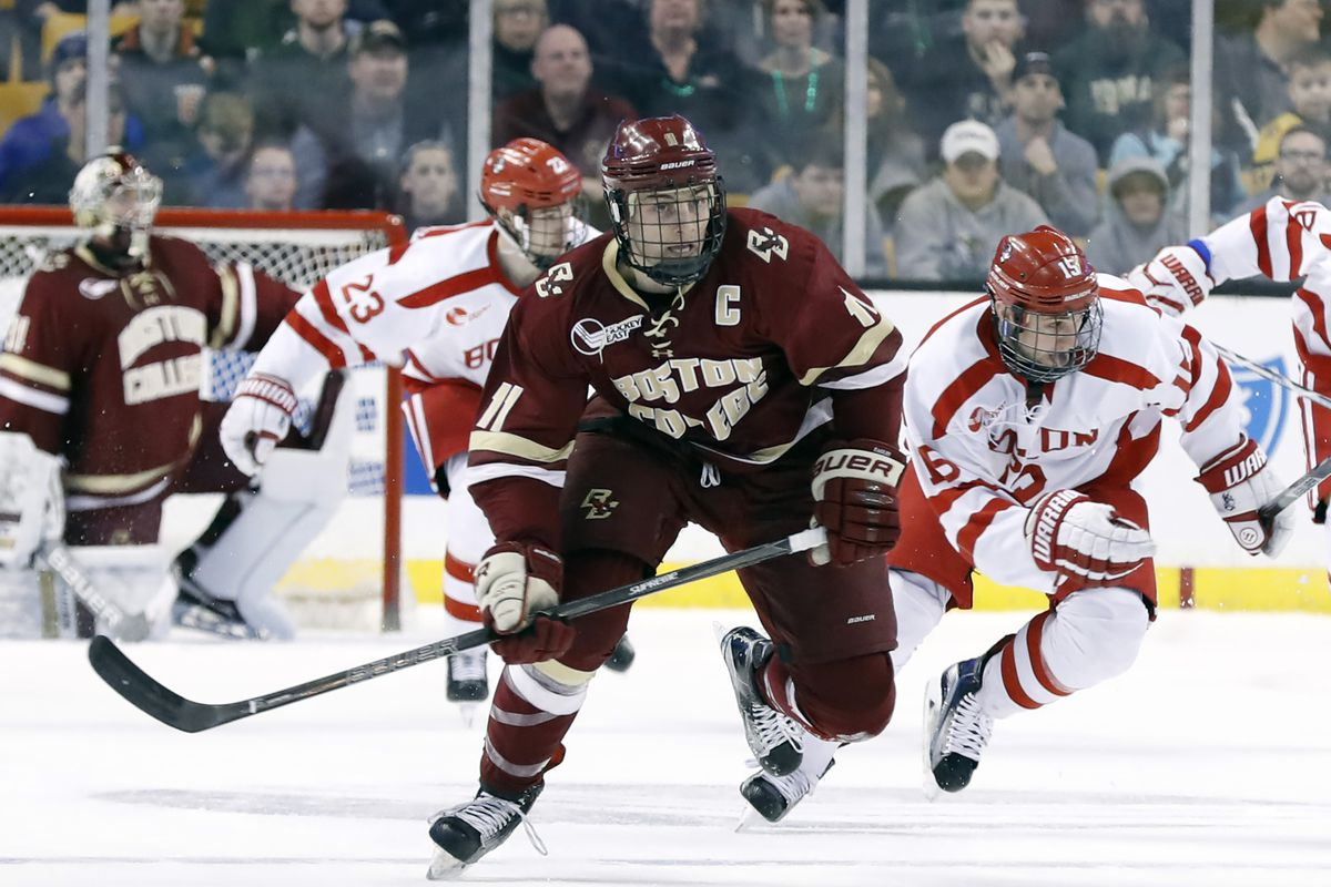 COLLEGE HOCKEY: MAR 17 Hockey East Championship - Semifinal - Boston University v Boston College