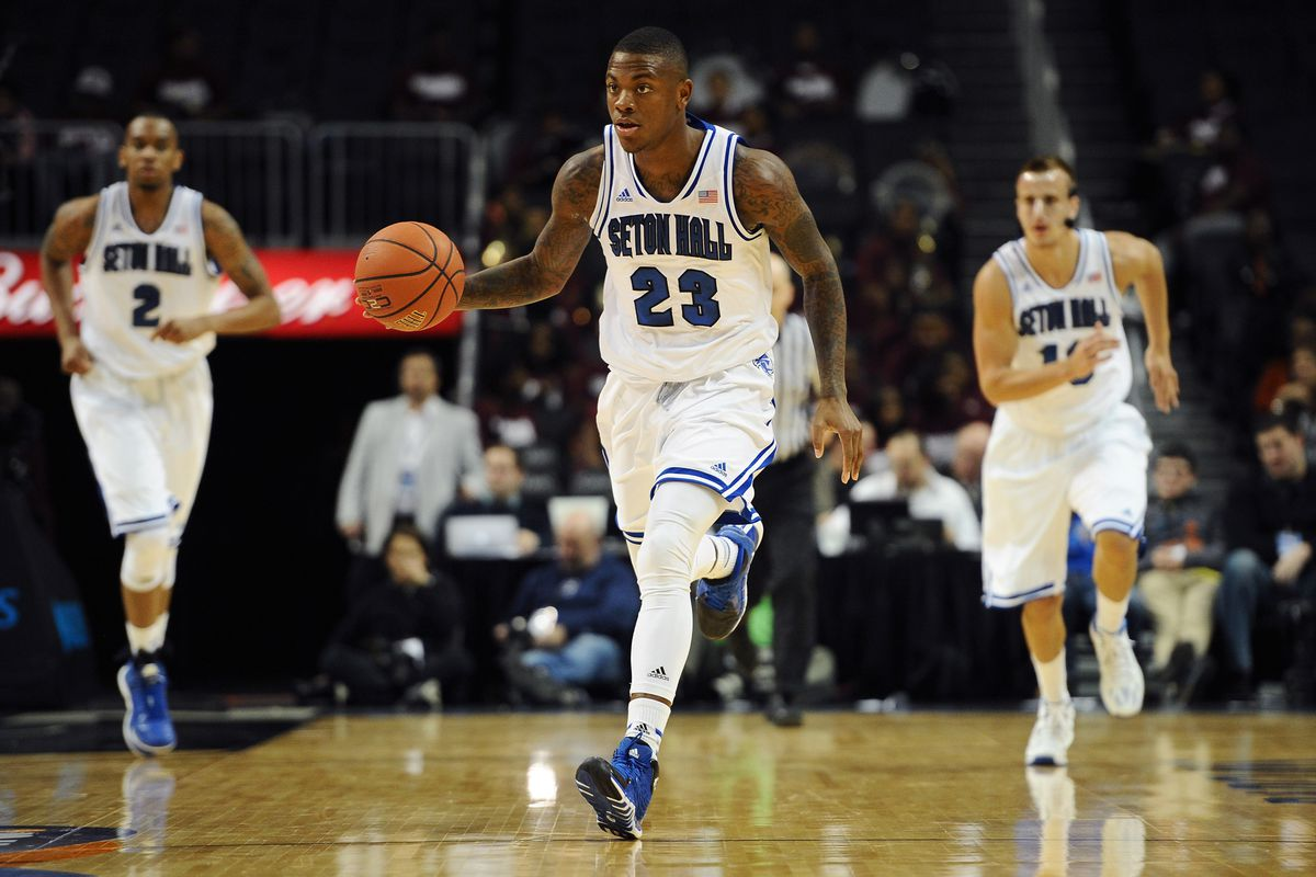 Fuquan Edwin (23) missed most of the game, but shorthanded Seton Hall had no problem without him.
