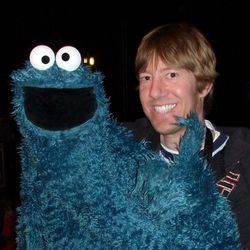 Puppeteer Travis Frost with Cookie Monster.