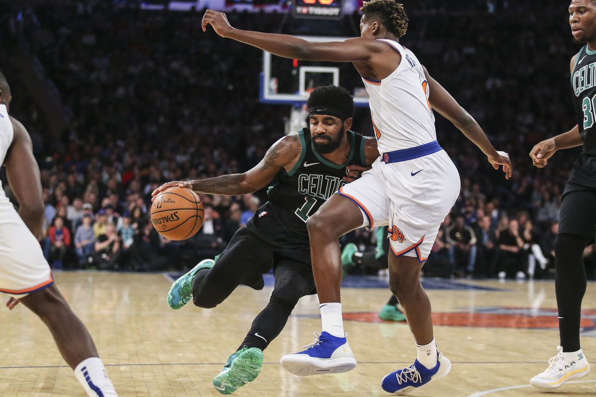 1c47aaee114c8 A Garden flirtation with Kyrie Irving, a bang out of the gates, a fireworks  finale and not much in between for Celtics and Knicks