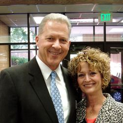 Elder Richard Norby, who was injured by a bomb Tuesday, March 22, 2016, in the terrorist attack at the Brussels airport, and Sister Pamela Birdwell Norby, a former member of the Relief Society General Board of the LDS Church, pose together in Brussels last month.
