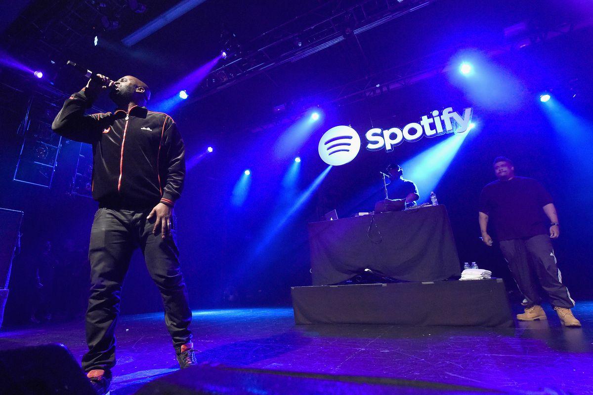Kelvin Mercer and David Jude Jolicoeur of De La Soul perform at Advertising Week New York 2016 - Spotify Opening Gig